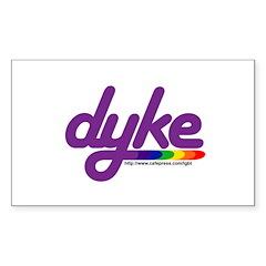 dyke Rectangle Decal