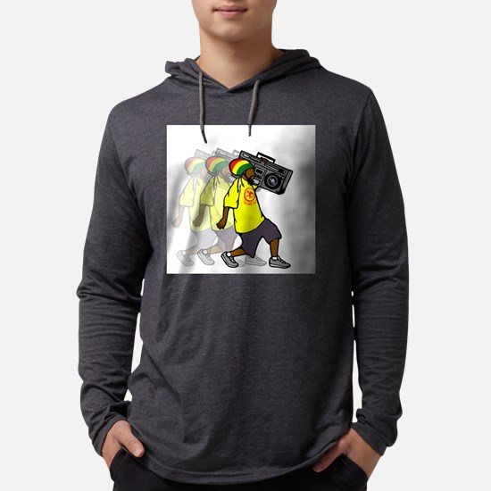 Rasta Boombox Long Sleeve T-Shirt