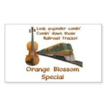 Orange Blossom Special Fiddle Rectangle Sticker
