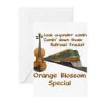 Orange Blossom Special Fiddle Greeting Cards (Pk o