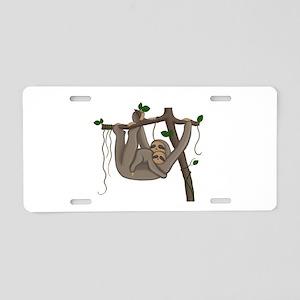 Cute Sloth Aluminum License Plate