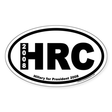 Hillary Clinton for President HRC Oval Sticker