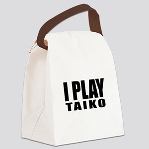 I Play Taiko Canvas Lunch Bag