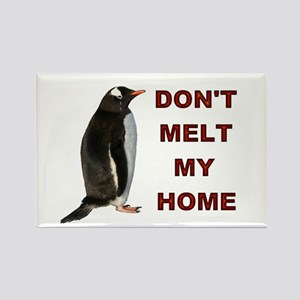 Global Warming Penguin Rectangle Magnet