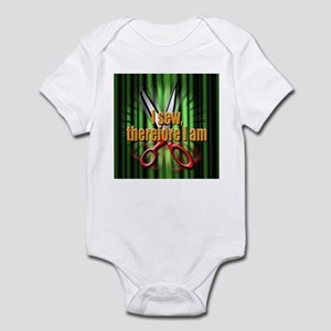 I sew, therefore I am Infant Bodysuit