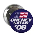 """Cheney-Satan '08"" Button"
