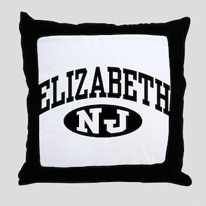 Elizabeth New Jersey Throw Pillow