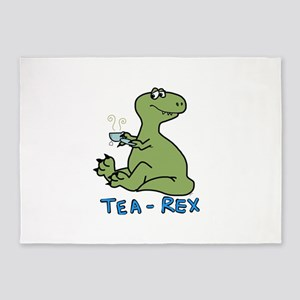 Tea rex 5'x7'Area Rug
