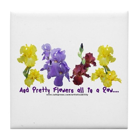 Pretty Flowers in a Row Tile Coaster