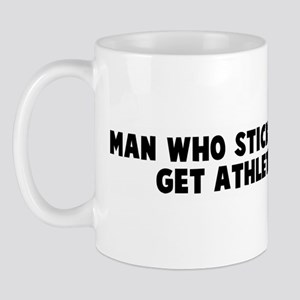 Man who stick foot in mouth g Mug