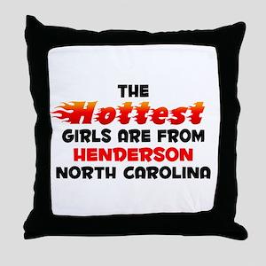 Hot Girls: Henderson, NC Throw Pillow