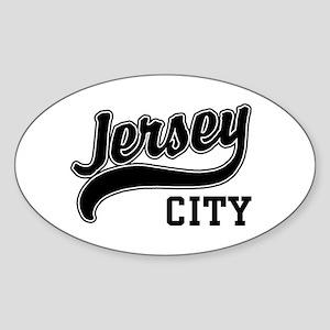 Jersey City New Jersey Oval Sticker
