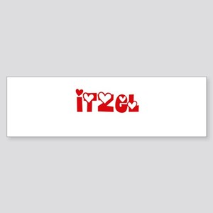 Itzel Love Design Bumper Sticker