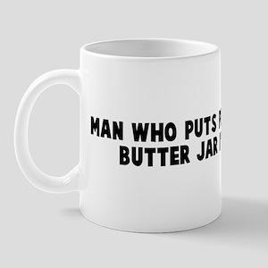 Man who puts pecker in peanut Mug
