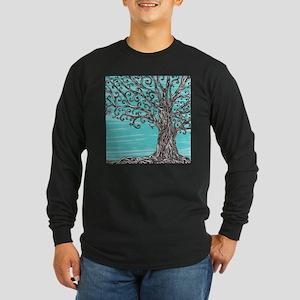 Decorative Tree Long Sleeve Dark T-Shirt