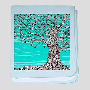 Decorative Tree baby blanket