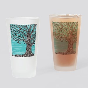 Decorative Tree Drinking Glass