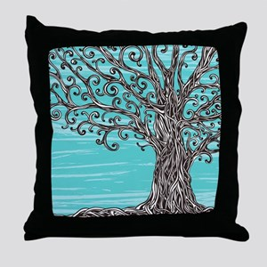 Decorative Tree Throw Pillow