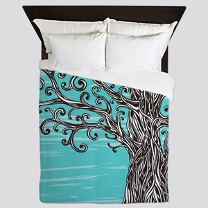 Decorative Tree Queen Duvet