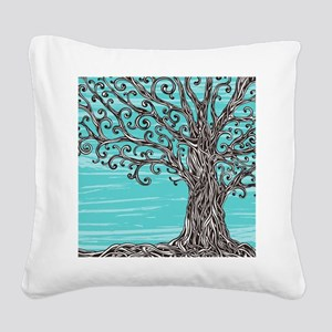 Decorative Tree Square Canvas Pillow