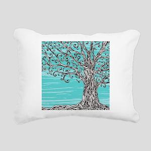 Decorative Tree Rectangular Canvas Pillow