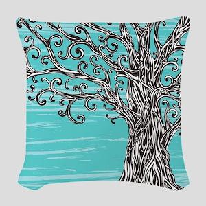 Decorative Tree Woven Throw Pillow