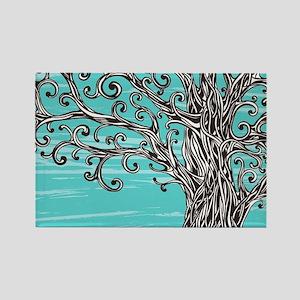 Decorative Tree Rectangle Magnet