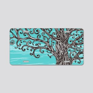 Decorative Tree Aluminum License Plate