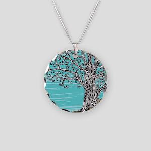 Decorative Tree Necklace Circle Charm