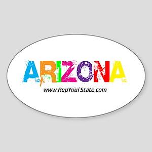 Colorful Arizona Oval Sticker