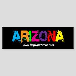 Colorful Arizona Bumper Sticker
