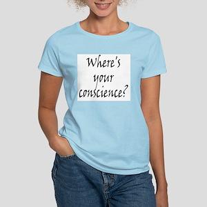 Where's Your Conscience Women's Light T-Shirt