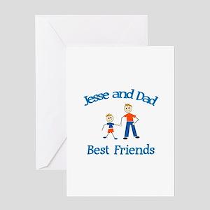 Jesse & Dad - Best Friends Greeting Card