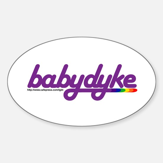 baby dyke Oval Decal
