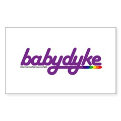 baby dyke Rectangle Decal