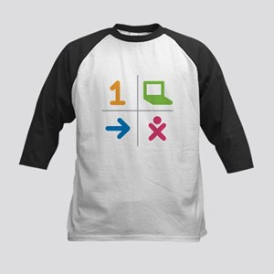4 Square Logo No Text Kids Baseball Jersey