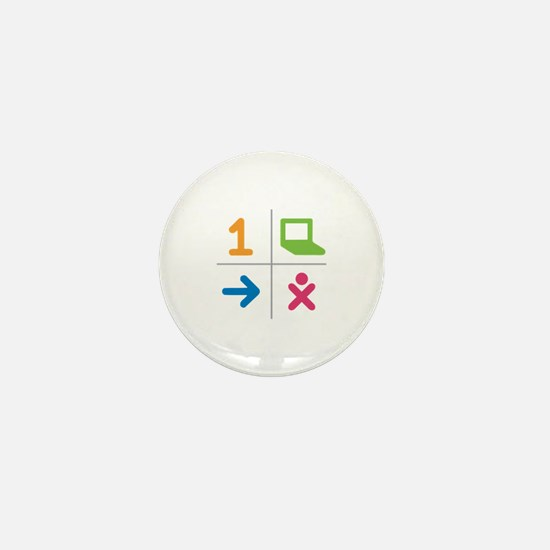 4 Square Logo No Text Mini Button