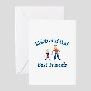 Kaleb & Dad - Best Friends Greeting Card