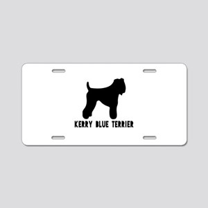 Kerry Blue Terrier Dog Desi Aluminum License Plate