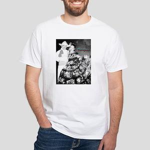Chiapas Couple Charcoal Sketch White T-Shirt