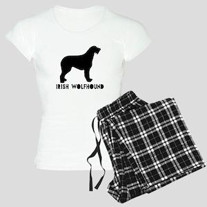 Irish Wolfhound Dog Designs Women's Light Pajamas