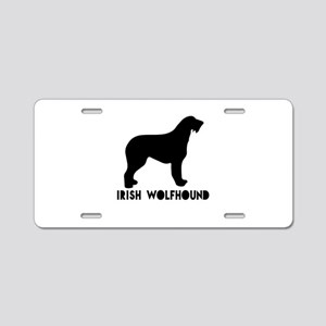 Irish Wolfhound Dog Designs Aluminum License Plate