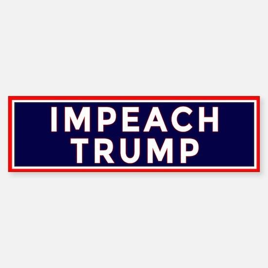 Bold IMPEACH TRUMP Sticker (Bumper)