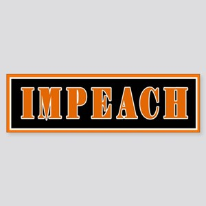 Orange IMPEACH Bumper Sticker (Bumper)