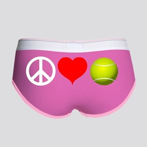 Peace Love Tennis Workout Design Women's Boy Brief