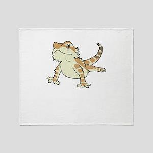 Sorry My Bearded Dragon Ate My Homew Throw Blanket