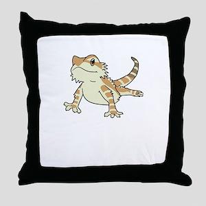 Sorry My Bearded Dragon Ate My Homewo Throw Pillow