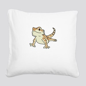 Sorry My Bearded Dragon Ate M Square Canvas Pillow