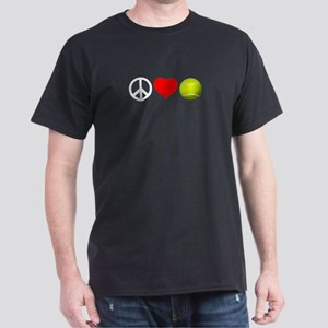 Peace Love Tennis Workout Design T-Shirt