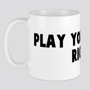 Play your cards right Mug